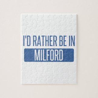 Ich würde eher in Milford sein Puzzle