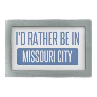 Ich würde eher in Missouri-Stadt sein Rechteckige Gürtelschnalle