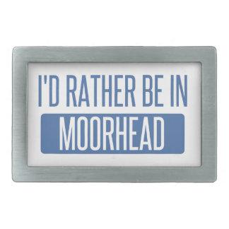 Ich würde eher in Moorhead sein Rechteckige Gürtelschnalle