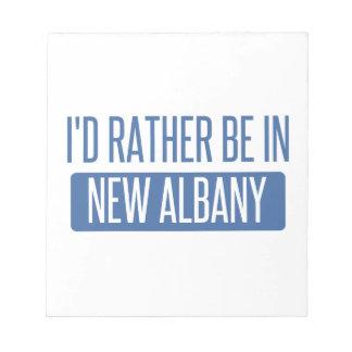 Ich würde eher in neuem Albanien sein Notizblock