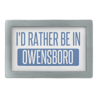 Ich würde eher in Owenboro sein Rechteckige Gürtelschnalle