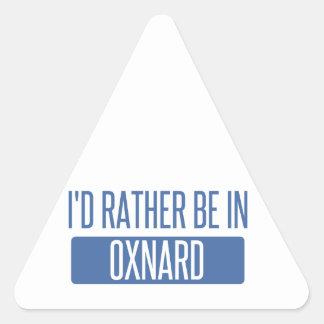 Ich würde eher in Oxnard sein Dreieckiger Aufkleber