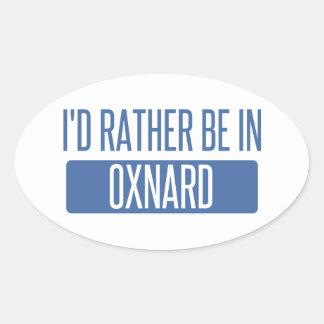 Ich würde eher in Oxnard sein Ovaler Aufkleber