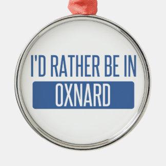 Ich würde eher in Oxnard sein Rundes Silberfarbenes Ornament