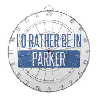 Ich würde eher in Parker sein Dartscheibe