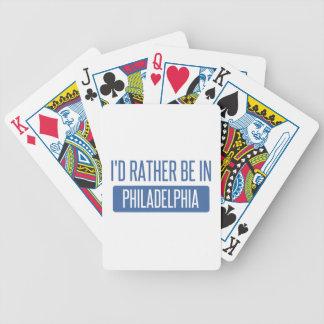 Ich würde eher in Philadelphia sein Bicycle Spielkarten