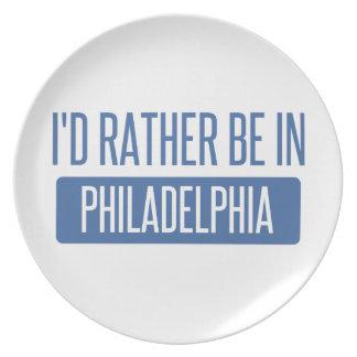 Ich würde eher in Philadelphia sein Teller