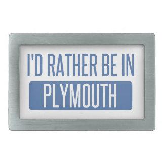 Ich würde eher in Plymouth sein Rechteckige Gürtelschnalle