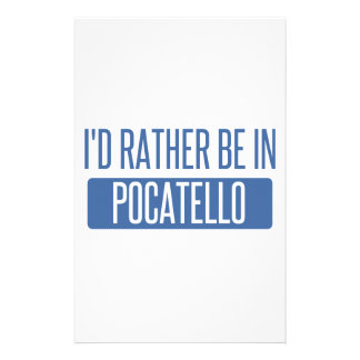 Ich würde eher in Pocatello sein Briefpapier