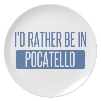 Ich würde eher in Pocatello sein Melaminteller