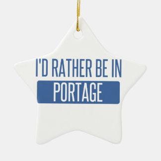 Ich würde eher in Portage MI sein Keramik Ornament