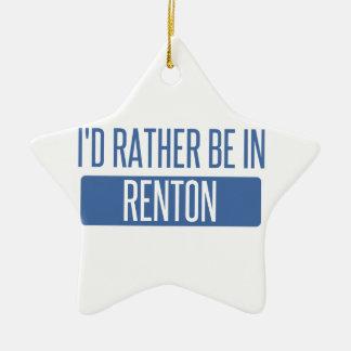 Ich würde eher in Renton sein Keramik Stern-Ornament