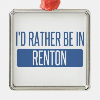 Ich würde eher in Renton sein Silbernes Ornament