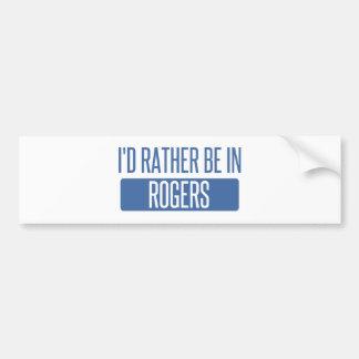 Ich würde eher in Rogers sein Autoaufkleber