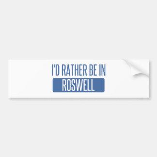 Ich würde eher in Roswell GA sein Autoaufkleber