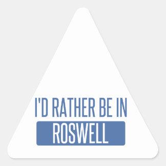 Ich würde eher in Roswell GA sein Dreieckiger Aufkleber