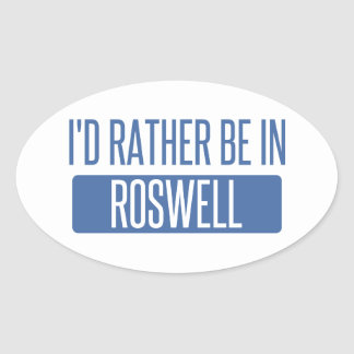 Ich würde eher in Roswell GA sein Ovaler Aufkleber