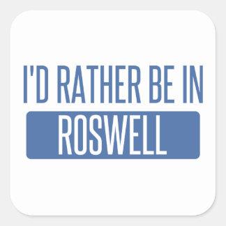 Ich würde eher in Roswell GA sein Quadratischer Aufkleber