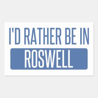 Ich würde eher in Roswell GA sein Rechteckiger Aufkleber
