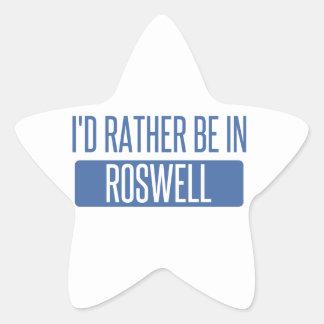 Ich würde eher in Roswell GA sein Stern-Aufkleber