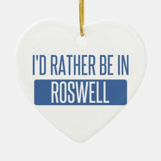 Ich würde eher in Roswell Nanometer sein Keramik Herz-Ornament