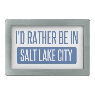 Ich würde eher in Salt Lake City sein Rechteckige Gürtelschnalle