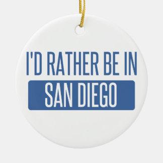 Ich würde eher in San Diego sein Rundes Keramik Ornament