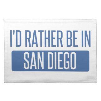 Ich würde eher in San Diego sein Stofftischset