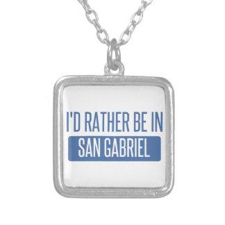 Ich würde eher in San Gabriel sein Versilberte Kette