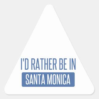 Ich würde eher in Santa Monica sein Dreieckiger Aufkleber