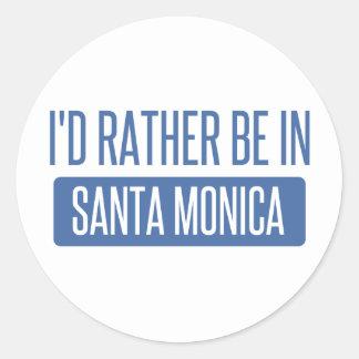 Ich würde eher in Santa Monica sein Runder Aufkleber