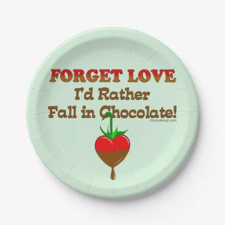 Ich würde eher in Schokolade fallen Pappteller