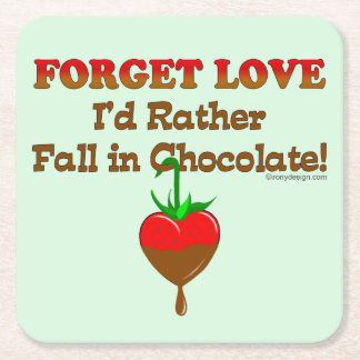 Ich würde eher in Schokolade fallen Rechteckiger Pappuntersetzer