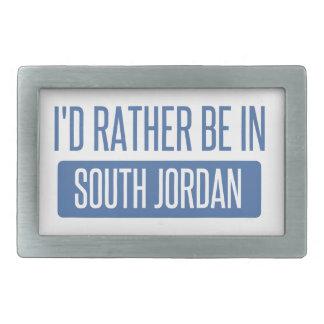 Ich würde eher in Südjordanien sein Rechteckige Gürtelschnalle