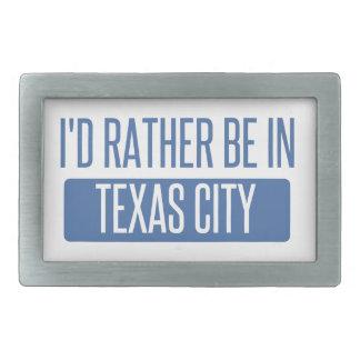 Ich würde eher in Texas-Stadt sein Rechteckige Gürtelschnalle