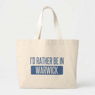 Ich würde eher in Warwick sein Jumbo Stoffbeutel