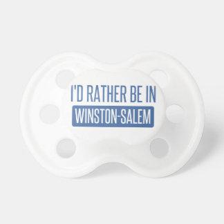 Ich würde eher in Winston-Salem sein Schnuller