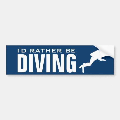 Ich würde eher tauchender | Unterwasseratemgerätta Auto Sticker