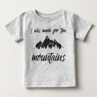 Ich wurde für das Grau des Gebirgsbaby-T gemacht Baby T-shirt