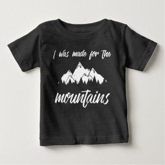 Ich wurde für das Schwarze des Gebirgsbaby-T Baby T-shirt