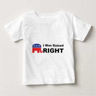 Ich wurde NACH RECHTS angehoben Baby T-shirt