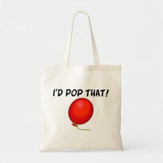 Ich wurde Pop, das im Ballon aufsteigen Tragetasche