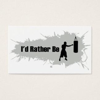 Ich würde vielmehr boxen visitenkarte