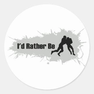 Ich würde vielmehr Fußball spielen Runder Aufkleber