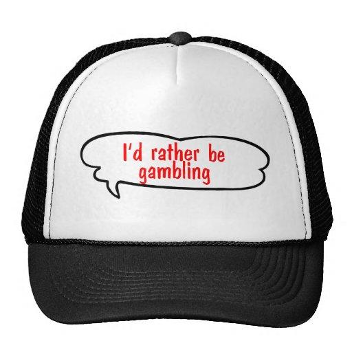 Ich würde vielmehr Hut spielen Baseball Mütze