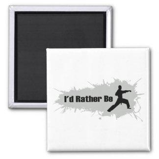 Ich würde vielmehr Karate tun Quadratischer Magnet