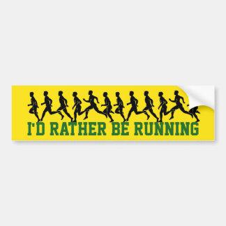 Ich würde vielmehr laufen: Läufer-Silhouetten Autoaufkleber