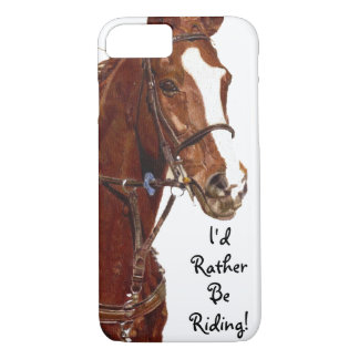 Ich würde vielmehr reiten! Pferd iPhone 8/7 Hülle