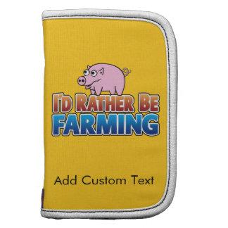 Ich würde vielmehr - rosa Schwein bewirtschaften Folio Planer