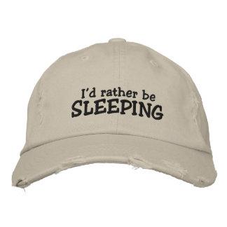 Ich würde vielmehr schlafen bestickte caps